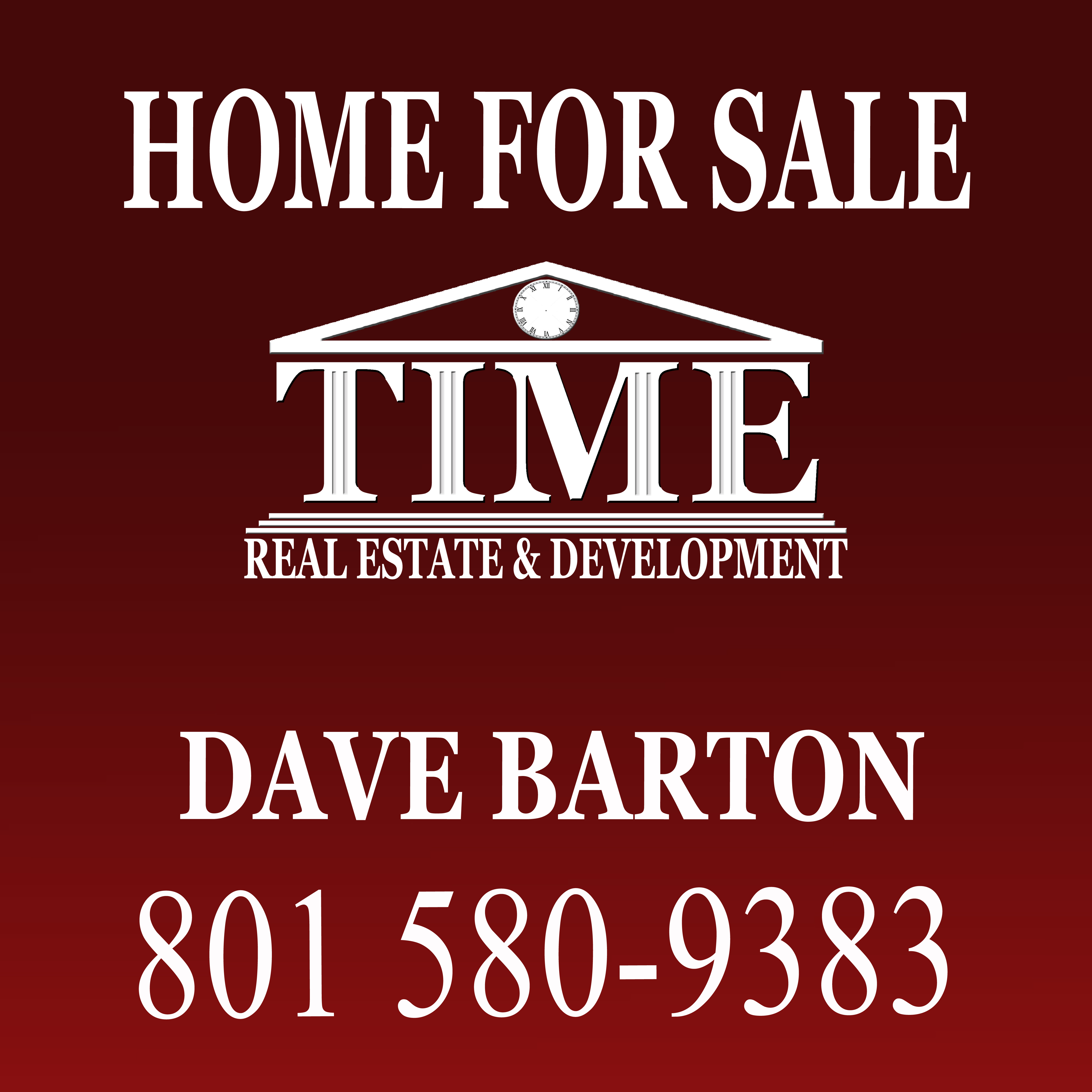 Time For Sale Sign 24X24-Light-9-16-2014